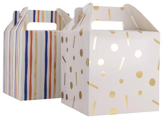 2er-Pack Geschenkschachteln, 23 x 15 x 15 cm - 14700412 - HEMA