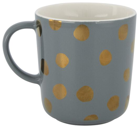 mug - 280 ml - Chicago - vert avec pois dorés - 9602082 - HEMA