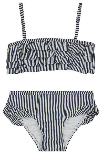 Kinder-Bikini, Rüschen dunkelblau dunkelblau - 1000022715 - HEMA