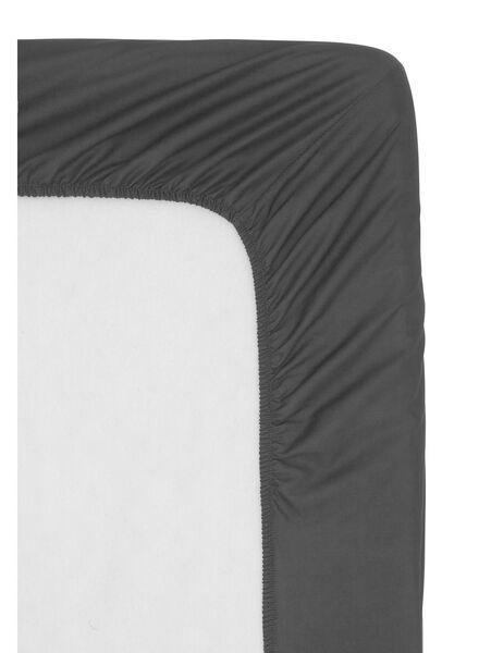 drap-housse - hôtel percale de coton - 140 x 200 cm - gris foncé - 5140033 - HEMA