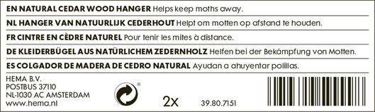 2er-Pack Zedernholz-Mottenschutz - 39807151 - HEMA