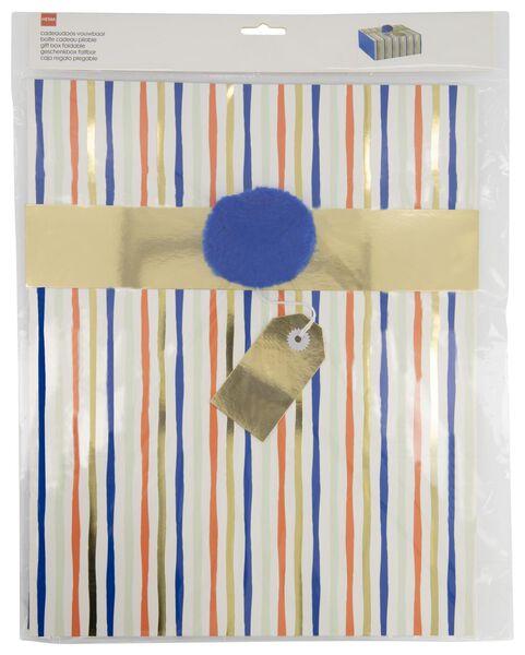 Geschenkschachtel, 25 x 30 x 12 cm, Streifen - 14700407 - HEMA