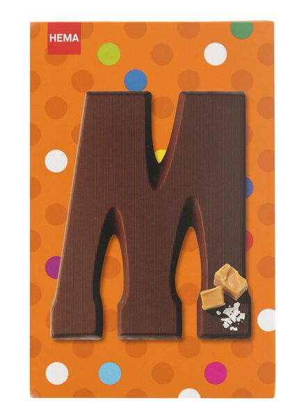 caramel sea salt milk chocolate letter M - 10039013 - hema