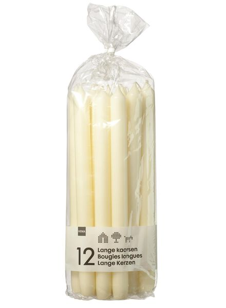household candles - 29 cm - ivory - 12x ivory 2.2 x 29 - 13503051 - hema