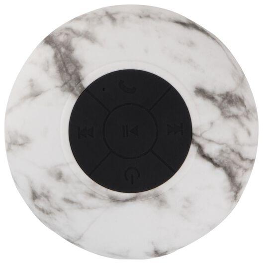 Bluetooth-Lautsprecher, wasserfest, Ø 8 cm, marmoriert - 39630164 - HEMA