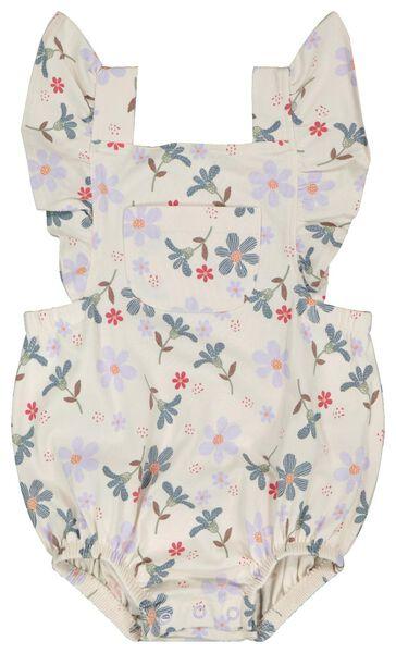 Newborn-Jumpsuit, Rüschen, elastische Biobaumwolle eierschalenfarben 74 - 33418815 - HEMA