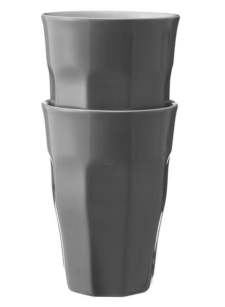 2 mugs 33 cl 330 ml gris foncé - 9680057 - HEMA