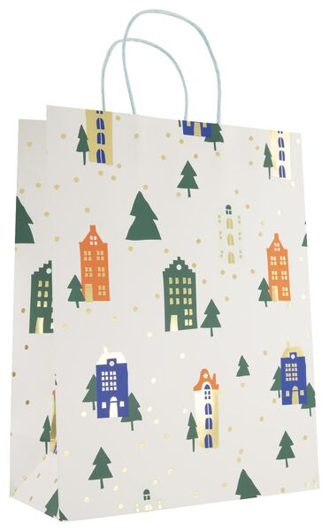 Geschenktasche, 31 x 24 x 11 cm, Häuser - 14700433 - HEMA