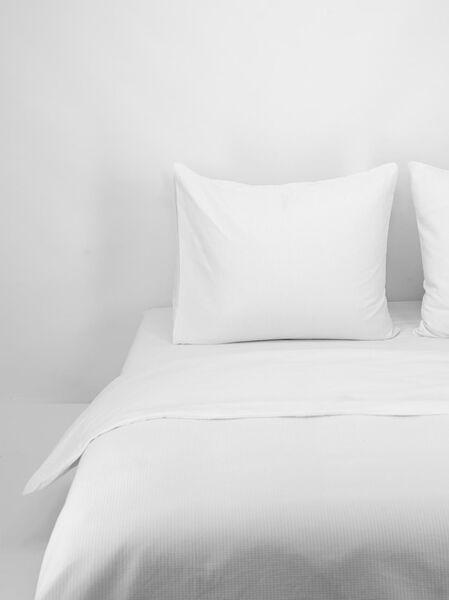 duvet cover - cotton honeycomb white white - 1000016992 - hema