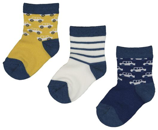 3-pack baby socks yellow yellow - 1000018740 - hema