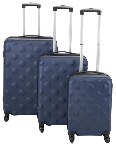 HEMA Koffer, 77 X 52 X 28 Cm, Struktur, Dunkelblau