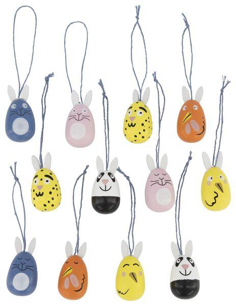 Image of HEMA 12 Wooden Hangers Eggs 4 Cm