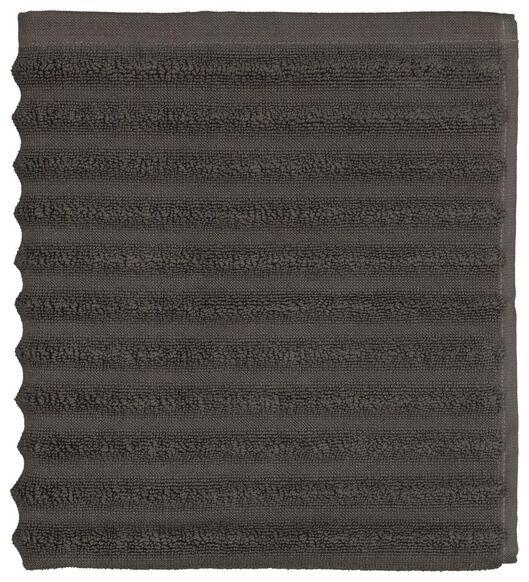 Image of HEMA Bath Mat 50x50 Stripe Dark Grey