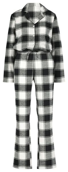 women's pyjamas flannel black/white black/white - 1000021716 - hema