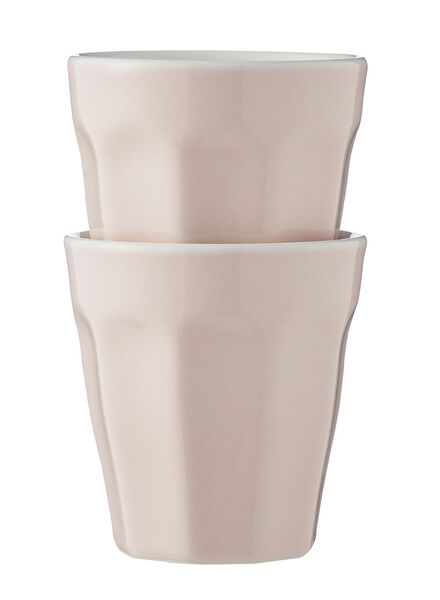 lot de 2 mugs de 9cl 9cl rose pâle - 9680044 - HEMA