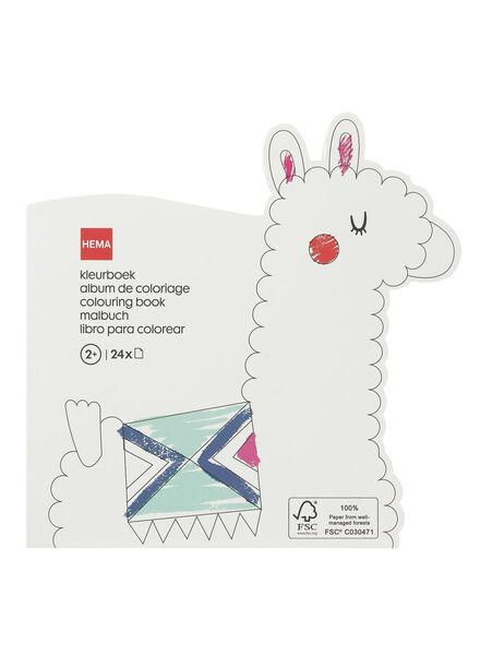 colouring book alpaca - 15910135 - hema