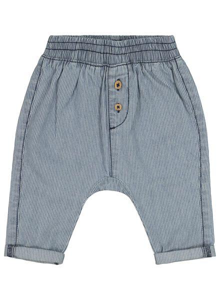 baby trousers striped denim denim - 1000017495 - hema