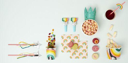 8 paper cups 220 ml - rainbow - 14210160 - hema