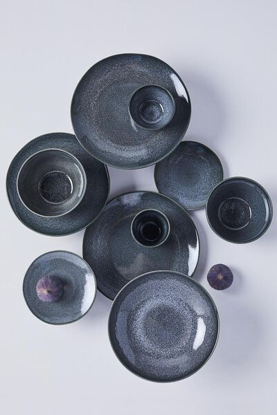 Becher Porto, 8 cm, reaktive Glasur, schwarz - 9602033 - HEMA