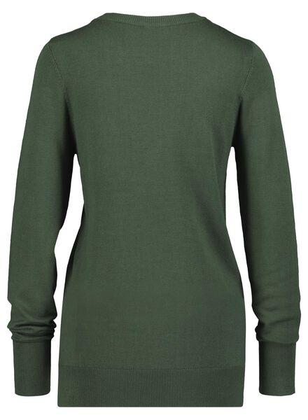 women's sweater dark green dark green - 1000017063 - hema