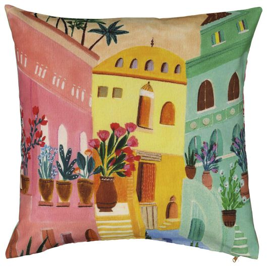 cushion cover - 50x50 - houses and flowers - 7320002 - hema