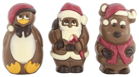 3 milk chocolate figures - 10030019 - hema