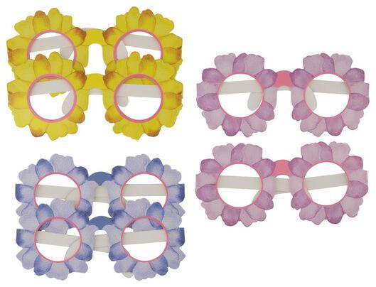 6 lunettes de fête en carton fleurs - 14200444 - HEMA