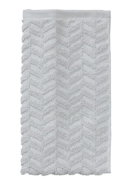 petite serviette - 30 x 55 cm - qualité épaisse - gris clair zigzag gris clair petite serviette - 5200059 - HEMA