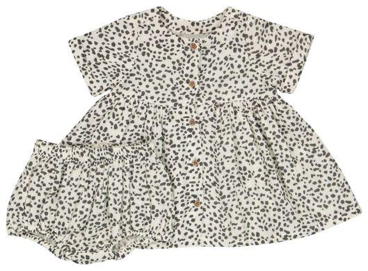 Babykleiderroecke - HEMA Baby Set, Kleid Hose Eierschalenfarben - Onlineshop HEMA