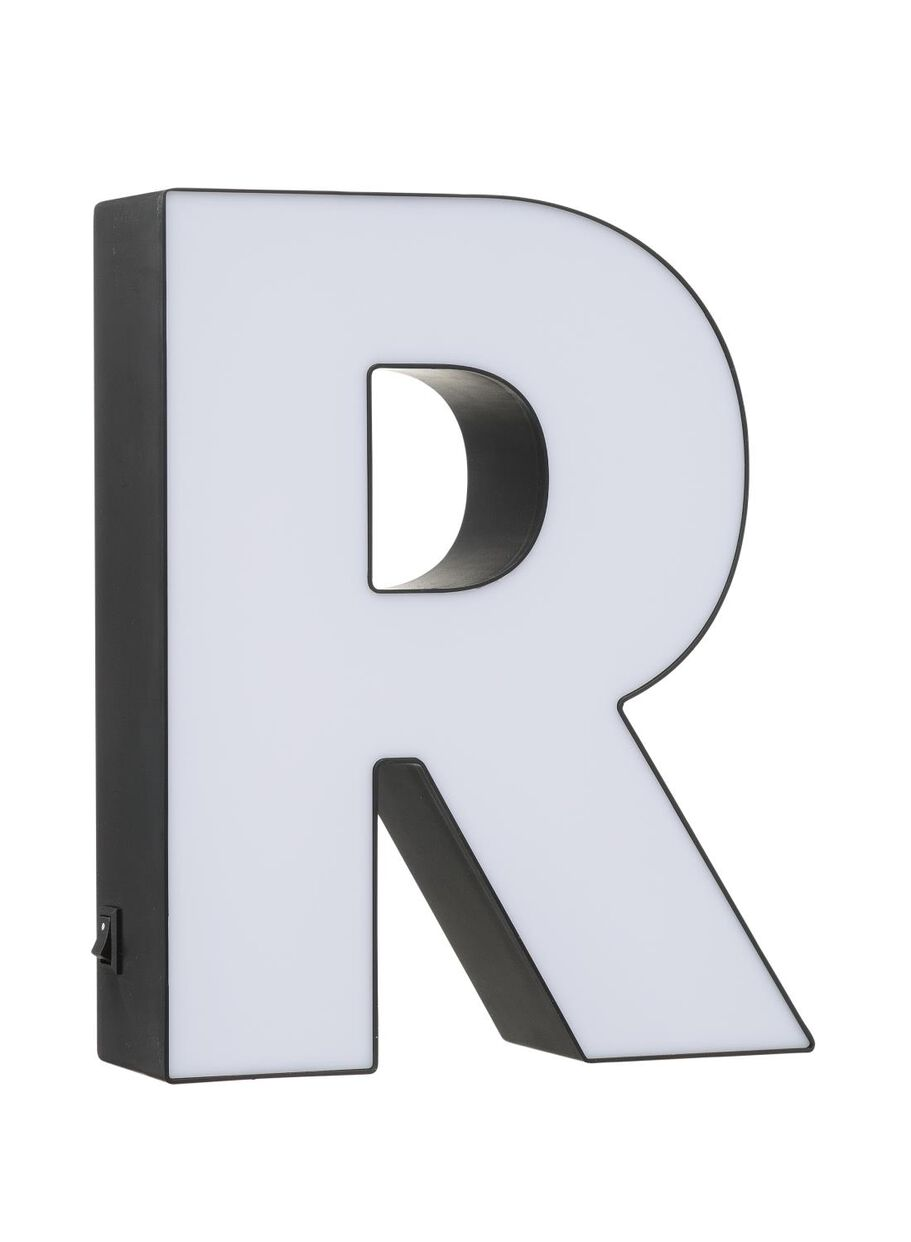 light box letter R   HEMA