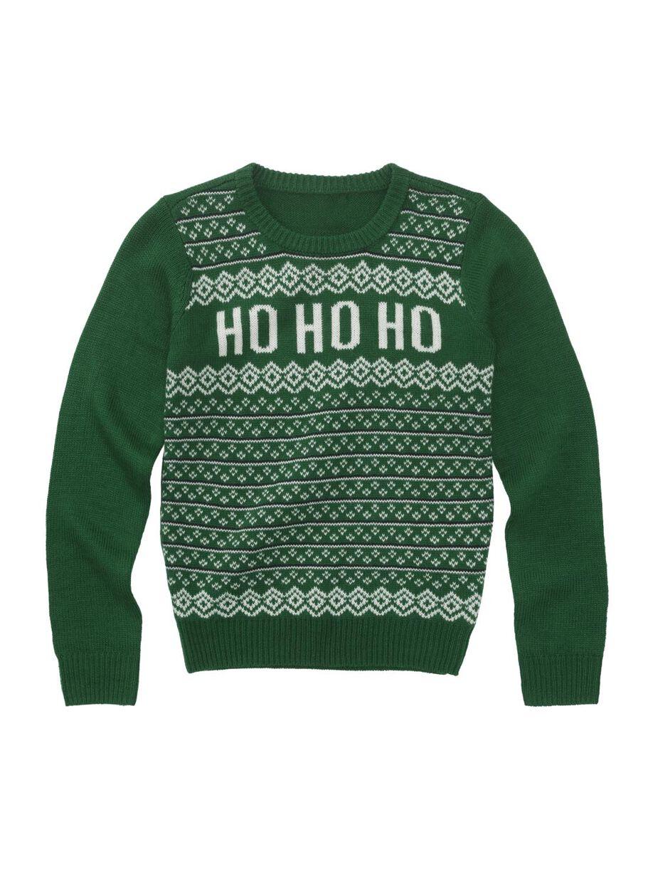 Kersttrui Maat 116.Children S Christmas Sweater Green Hema