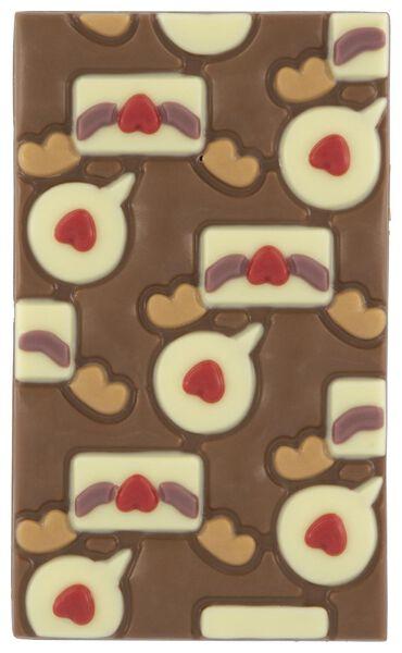 milk chocolate tablet love letter - 10050056 - hema