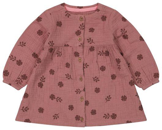 Babykleiderroecke - HEMA Baby Kleid, Blumen Rosa - Onlineshop HEMA