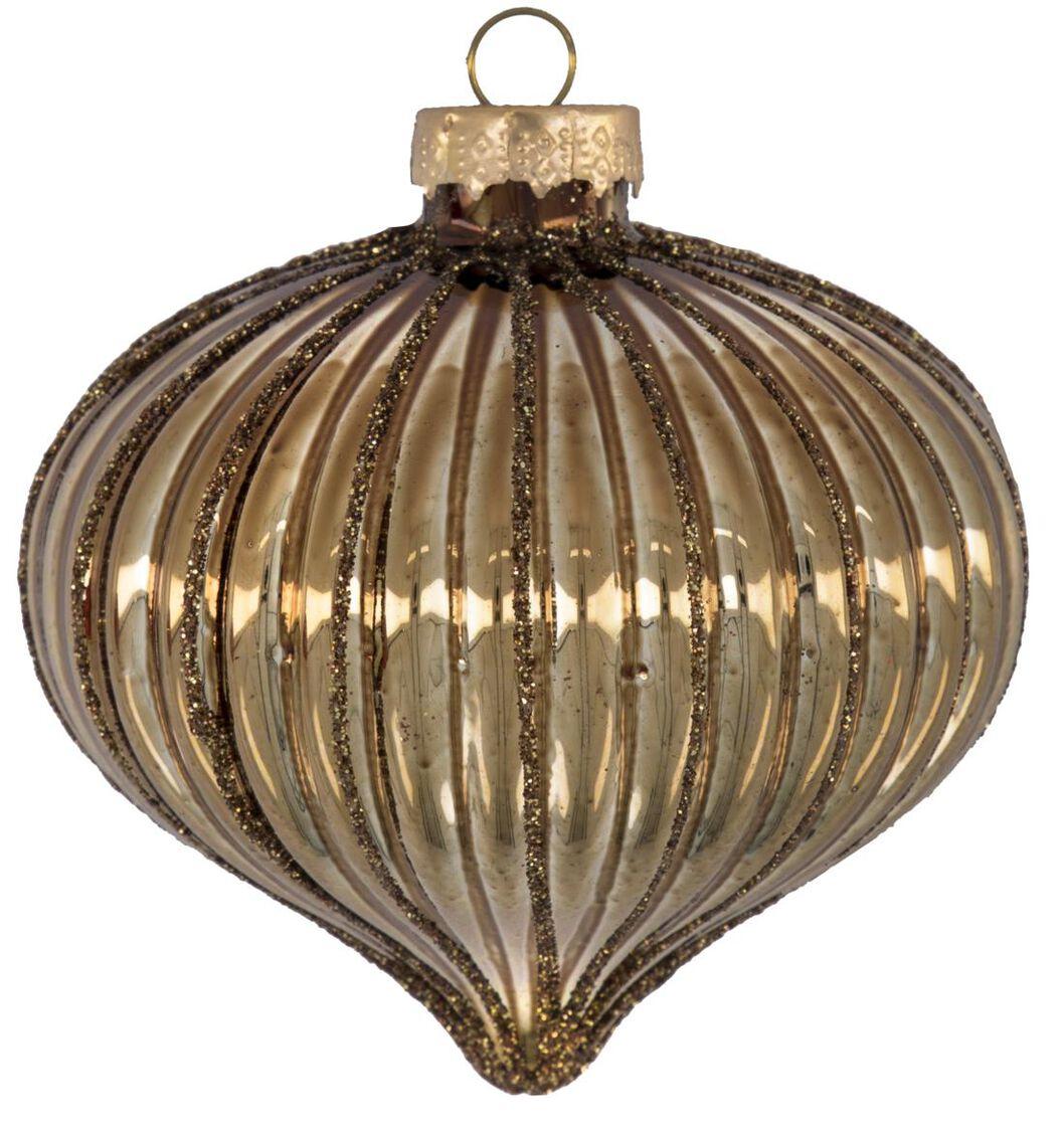 boule de noël verre cuivre - 25103805 - HEMA