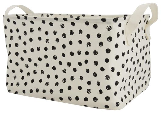 canvas basket 29x38x22 dots - 39821109 - hema