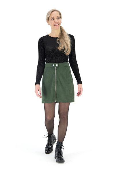 women's skirt dark green dark green - 1000017421 - hema