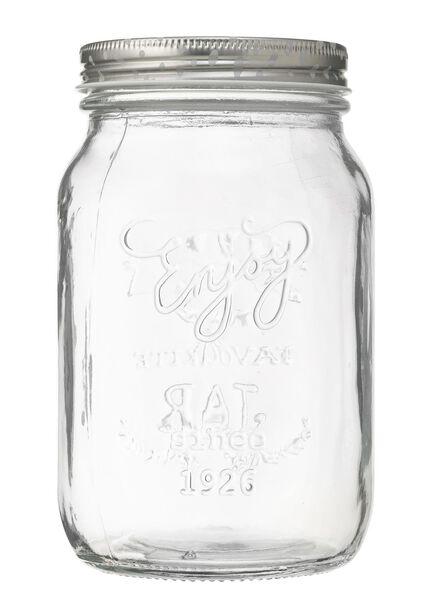 pot en verre de 1 litre - 80810201 - HEMA