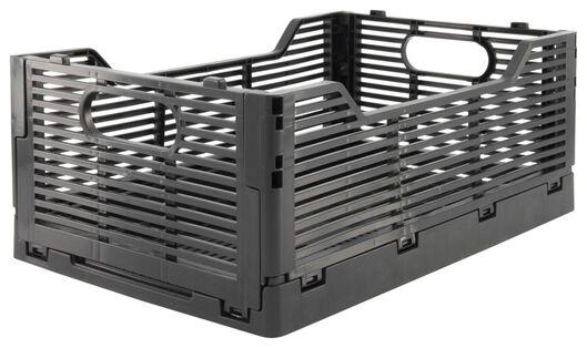 caisse pliante tableau recyclée 20x30x11.5 - noire noir 20 x 30 x 11,5 - 39821034 - HEMA