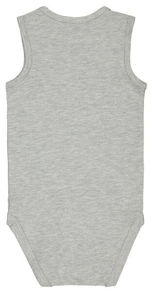 Baby-Body, ärmellos, elastische Baumwolle graumeliert graumeliert - 1000022898 - HEMA