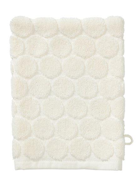 gant de toilette - qualité épaisse - écru pois - 5200069 - HEMA