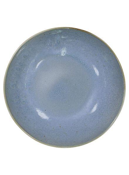 assiette creuse 21 cm - Porto - émail réactif - bleu - 9602023 - HEMA