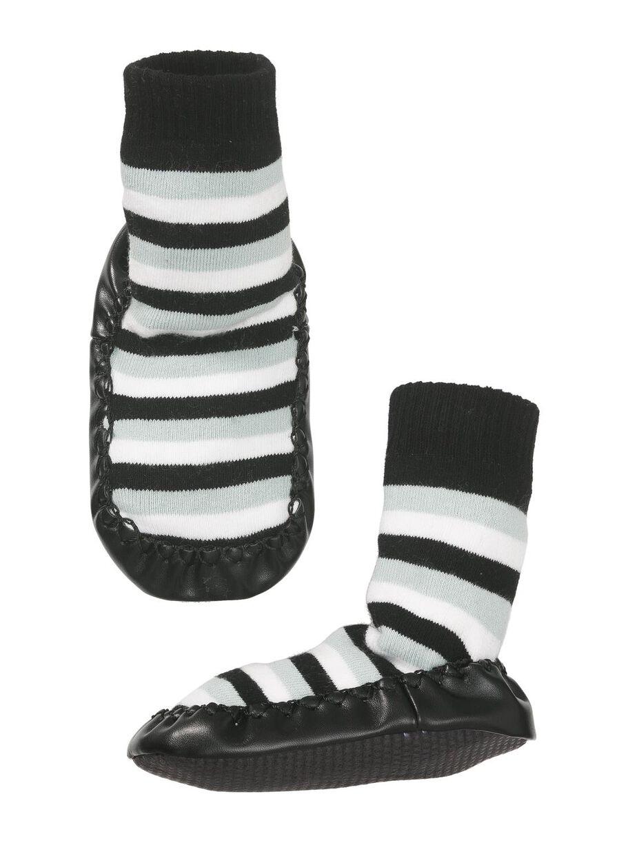 produit chaud design de qualité divers styles chaussons-chaussettes bébé noir/blanc