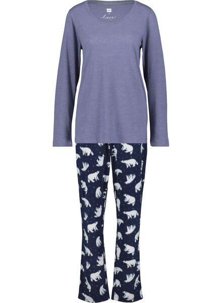 Damen-Pyjama dunkelblau dunkelblau - 1000017253 - HEMA