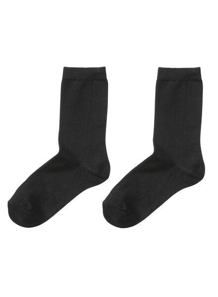 Socken für Frauen - HEMA 2er Pack Geruchshemmende Bambus Damensocken Schwarz  - Onlineshop HEMA