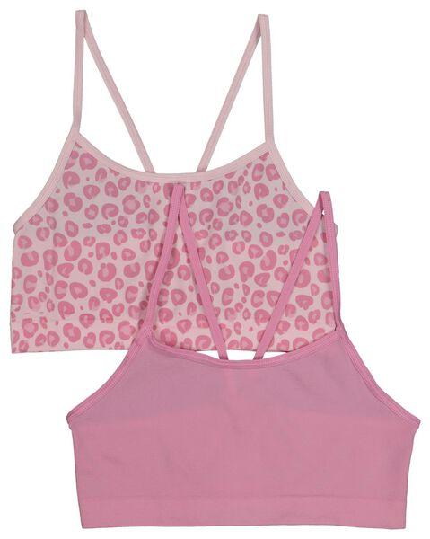 2-pack children's soft tops pink pink - 1000018110 - hema