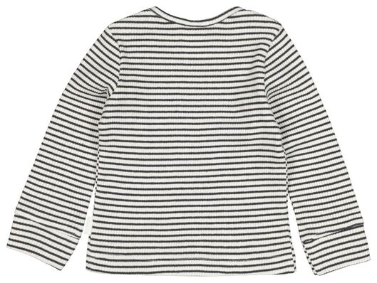 Newborn-Shirt, gerippt weiß weiß - 1000020596 - HEMA
