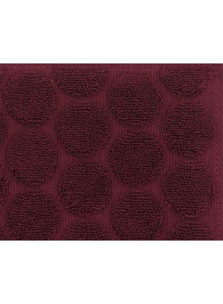 serviette de bain - 70x140 cm - qualité épaisse - bordeaux pois - 5220009 - HEMA