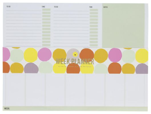 weekplanner magnetisch 21x28 - 14164651 - HEMA