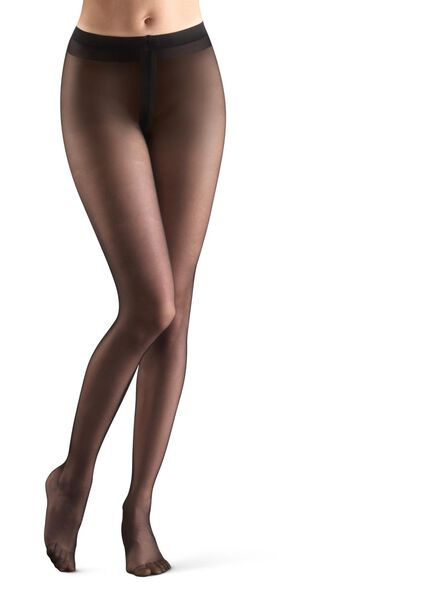 extremely shiny tights 10 denier black black - 1000006409 - hema