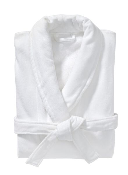 women's bathrobe with a shawl collar white white - 1000002864 - hema
